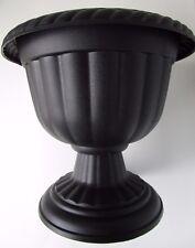 """Set of 5 - 12"""" BLACK PLASTIC SPARTA URNS PLANTERS pots URN pedestal"""