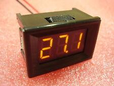 "7-150V Yellow 0.36"" Two wire Panel Voltmeter DC LED Display Digital 100V 12V H18"
