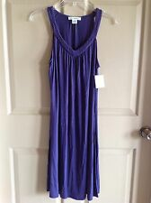 Liz Claiborne Mid Calf Length Violet Purple Sleeveless Chemise Size S NWT