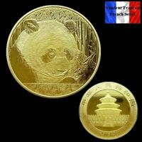 1 Pièce plaquée OR ( GOLD Plated Coin ) - 2018 Panda Chinois