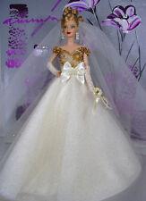 BARBIE DOLL ROBE DE MARIÉE WEDDING GOWN BRIDE
