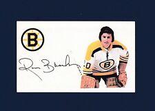 Ross Brooks signed Boston Bruins hockey index card