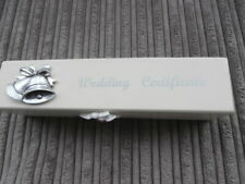 A BEAUTIFUL Wedding Certificate Box BELLS / WHITE DOVES