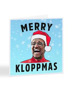 Merry Kloppmas Christmas Card Jurgen Klopp Liverpool FC Football XMAS - A7260