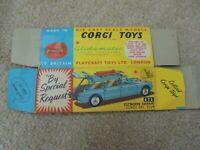 Corgi Toys original box only for Citroen Safari No. 475