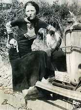 BONNIE PARKER Signed Photograph - Legendary Outlaw & Clyde Barrow - preprint