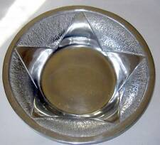 """Vintage Aluminum Star Bowl Thick Metal Serving Chip Display 12"""" Polished Mexico"""