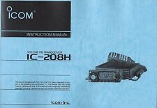 NEW ICOM IC-208H Instruction Operating Manual Book in English