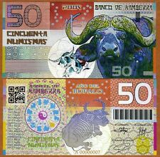 Kamberra,  50 Numismas, China Lunar Year 2009 (2013), UNC > Ox (Bull)