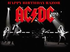 A4 ACDC ROCKERS EDIBLE ICING SHEET BIRTHDAY CAKE TOPPER