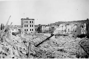Mile End Bomb Damage Malta . World War 2 photograph