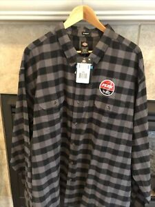 Mens Dickies Flex Relax Fit Shirt Size 4 XL. Flannel Checkered.