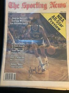 (7) Autographed basketball Sporting News 1980's  George Gervin Paul Westphal
