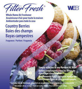 WEB FilterFresh Whole Home Country Berry Air Freshener AC Furnace Filter House..