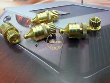 4x Solid Brass M8 Speaker Spike Feet Housing Stand 32x15mm Cone Base HIFI