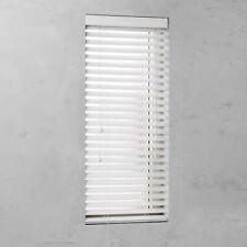 PVC Jalousie in Holz-Optik weiss für Fenster und Türen Sichtschutz Deko Rollo