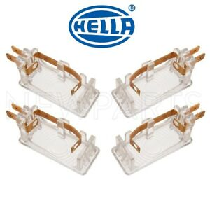 For Mercedes-Benz E-Class W124 Set of 4 Courtesy Lights OEM Hella 1248200401