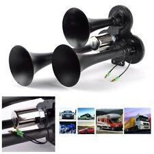 Universal Car Train Boat 12/24V Loud 150DB Triple Trumpet 3-Trumpet Air Horn Kit