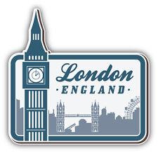 London Big Ben United Kingdom Vintage Label Car Bumper Sticker Decal 5'' x 5''