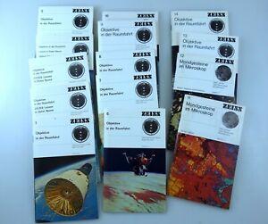 OBJEKTIVE IN DER RAUMFAHRT 1-14, 168 Dias Carl ZEISS Oberkochen Nasa Apollo Mond