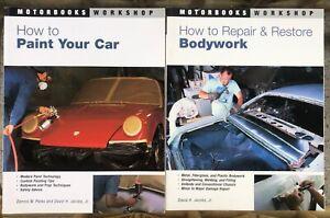 Lot of 2 Books Motorbooks Workshop How to Bodywork and Paint Hot Rod Kustom