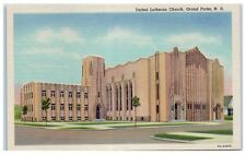 Mid-1900s United Lutheran Church, Grand Forks, ND Postcard