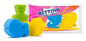 Bettina Animal Bath Sponges - 3 Pack - Bath Time Fun, Kids.
