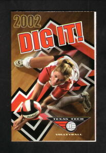 Texas Tech Red Raiders--2002 Volleyball Pocket Schedule--People's Bank