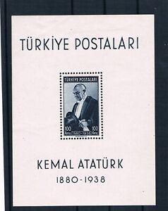 TURKEY  1938 BLOCK  ATATURK  MH   cv 90€   [10111]