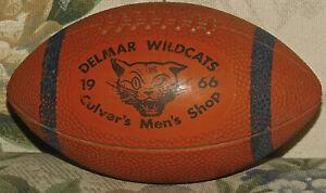 VINTAGE DELMAR WILDCATS 1966 MINI FOOTBALL CULVER'S MEN'S SHOP Souvenir BALL