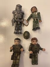 Battlestar Galactica Minimates Lot. Apollo, Boomer, Duala And Cylon Soldier.