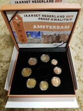 KMS EURO SET OLANDA NEDERLAND NIEDERLANDE 2017 FS PROOF PP BE