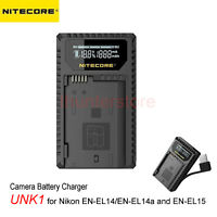 Nitecore Camera Charger UNK1 USB Slot for Nikon EN-EL14 EN-EL14a EN-EL15 Battery