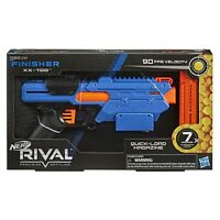 Nerf Rival Finisher XX-700 Blaster - Quick-Load Magazine, Spring Action, 7 Nerf
