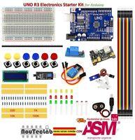 Upgrade Dispositivo d'avviamento Kit UNO R3 Breadboard LED LCD SG90 DHT11 Relay