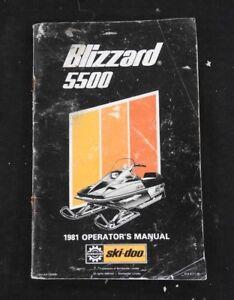GENUINE 1981 SKI-DOO 5500 BLIZZARD SNOWMOBILE OPERATORS MANUAL ACCEPTABLE SHAPE