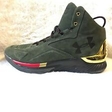 cbe1b91d1f0d3 Under Armour UA Curry 1 Lux Mid Suede 1296617-330 Basketball Shoes Size 10