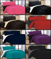 LAURA SECRET 4 PCS COMPLETE REVERSIBLE DUVET COVER & SHEET BED SET IN 10 COLORS