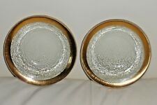 Annieglass 1994 Set of 2 Signed Glass Bowls with Gold Edge