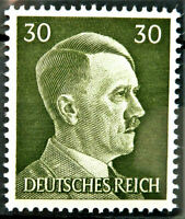 WW2 REAL NAZI 3rd REICH ERA GERMAN STAMP ADOLF HITLER REICHSKANZLER 30rf MNH