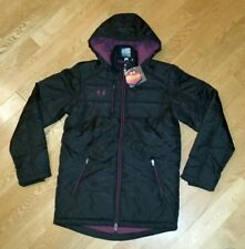 Under Armour UA Storm ColdGear Infrared Hooded Jacket Coat Men's Small Black NEW