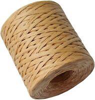 656feet Natural Raffia Paper Ribbon Craft Twine Strings 1/4in Width Matte Ribbon