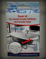 Bath Repair Kit Hydrojet 2K Fix Scratch Crack Chip Ceramic Sink White
