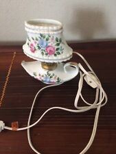 """Royal Crown Hand Painted  Porcelain Rose Flower Electric Lamp 6"""""""