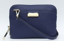 $795 BURBERRY Blue Heritage Grain Leather Small Harrogate Crossbody Bag Clutch
