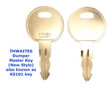 2 x THWAITES LUCAS 1051 Master Plant Dumper Truck Keys + FAST FREE POST !