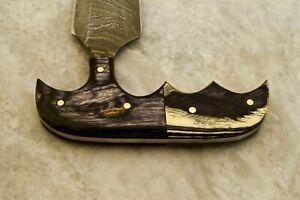 CK CUSTOM HAND MADE DAMASCUS Art Hunter Skinner Knife - # W-3495