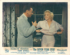 Seven Year Itch Marilyn Monroe opens blouse on balcony with Tom Ewell