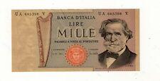 1000 LIRE G.VERDI SECONDO TIPO 25/3/1969 - STAMPATI SU CARTA OCRA - RARA