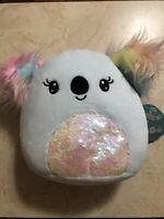 """Squishmallow 8"""" MEDIUM Kya Koala Sequin Belly Fluffy Ears Easter 2021 BRAND NEW!"""